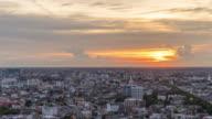 Bangkok city sunset day to night Time lapse