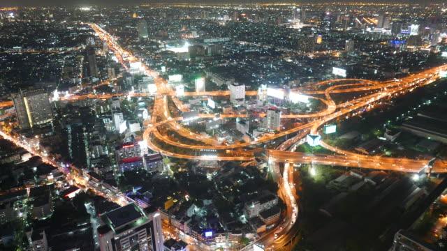 HD Bangkok city timelapse at night