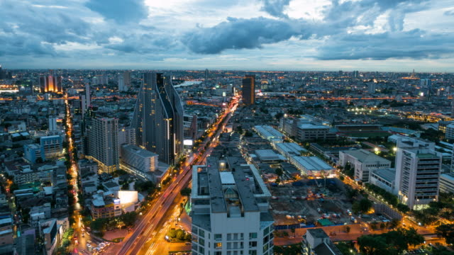 Bangkok Day to Dusk Timelapse