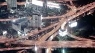 Bangkok highway at night