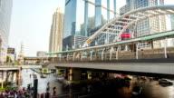 Bangkok modern on Sathorn  Bridge