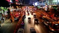 Bangkok rush hour in Ratchaprasong shopping district