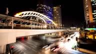 Bangkok Rush-Zeitraffer in der Nacht.