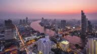 T/L WS HA ZO Bangkok Skyline Day to Night Transition / Bangkok, Thailand