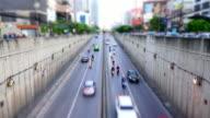 Bangkok Sunset Verkehr Zeitraffer 4k.