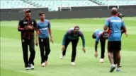 Bangladesh cricket team train ahead of their quarter final match against India in the Cricket World Cup