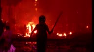 Bangladeshi police broke up a protest by tens of thousands of religious hardliners and shut down Islamist television stations Monday as more than...