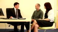 Bank Manager/financial advisor mit Kunden-Mortgages