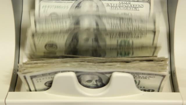 Bank Money Counting Machine with $100 $ & $50 Bills