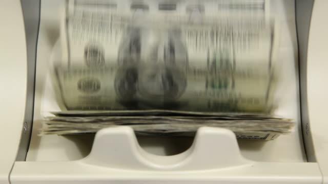 Bank Money Counting Machine with $100 Bills