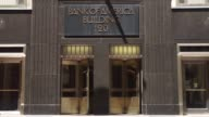 Bank of America locations in downtown Chicago IL on July 9th 2017 Shots wide shot of building exterior as pedestrians walk by sidewalk wider shot...