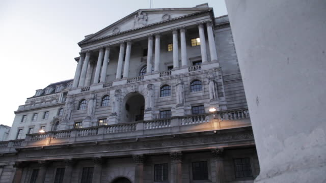 Bank of England at Dusk, The City, England, London, UK