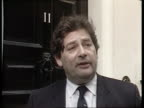 Bank of England figures show bank lending rocketed during July TX 681987 No 11 EXT Nigel Lawson interview SOT Will continue to put interest rates up...