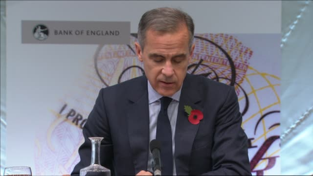 Bank of England interest rate rise press conference ENGLAND London Bank of England INT Sir David Ramsden Ben Broadbent Mark Carney and Gareth Ramsay...