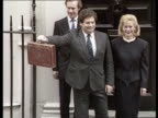 Bank of England orders 1 per cent rise in interest rates R 1731987 London Downing Street Number 11 PHOTOGRAPHY** Nigel Lawson and wife Therese...
