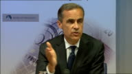 Bank of England press conference Mark Carney answering questions SOT Andrew Bailey answering question SOT Mark Carney answering questions SOT