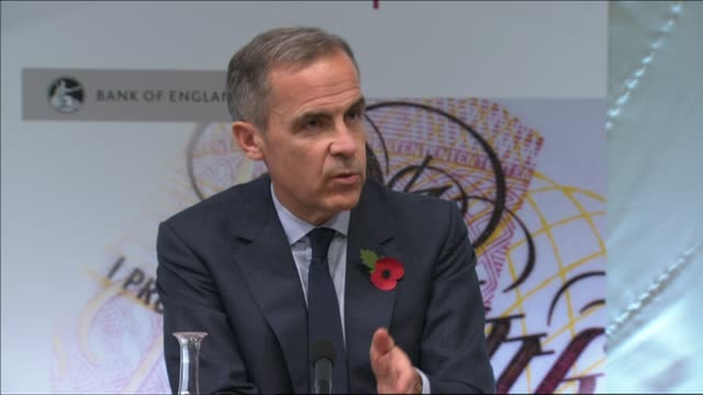Bank of England raises interest rates for first time in a decade INT Mark Carney press conference SOT Our job to get inflation back to target in 1824...