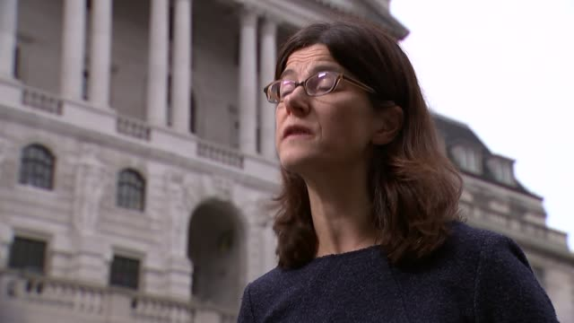 Bank of England raises interest rates for first time in a decade London Feet of workers along with Bank of England entrance in background GVs Bank of...