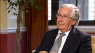 Sir Mervyn King interview Q Are we hostage to what's happening in World Economy Mervyn King SOT We are part of an integrated world trading economy...