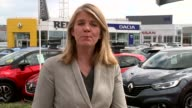 Bank of England warning over household debt EXT Nissan cars on display outside dealership Close shot price on display Reporter to camera Close shot...