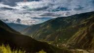 baños timelapse of mountainss in ecuador