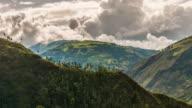 baños valley tiemlapse in ecuador