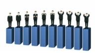 Bar Chart Business man wave