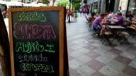 Bar sign in Gran via in Madrid