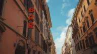 Bar sign in Via del Corso in Rome