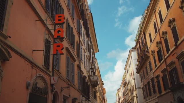 Bar sign in Via del Corso in Rome