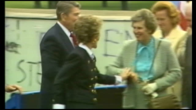 Barack Obama Berlin speech S23100601 / Ronald Reagan and wife Nancy Reagan arrive Ronald Reagan speech SOT Mr Gorbachev Open this gate Mr Gorbachev...