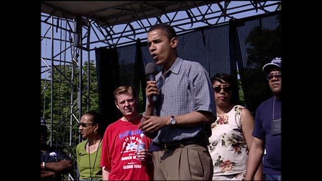 WGN Barack Obama Campaigning For Illinois Senator in 2004