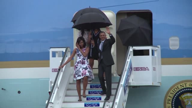 Barack Obama on Sunday became the first US president in 88 years to visit Cuba touching down with his family in Havana for a landmark trip aimed at...