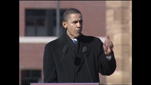 WGN Barack Obama Speaks at His Presidential Campaign Announcement in Springfield Illinois on February 10 2007