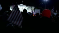 Barack Obama to unveil immigration overhaul USA Washington Various shots of supporters of new immigration rules waving US flags and chanting their...