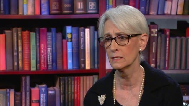 Barack Obama's last presidential State of the Union address USA Washington D Wendy Sherman interview SOT
