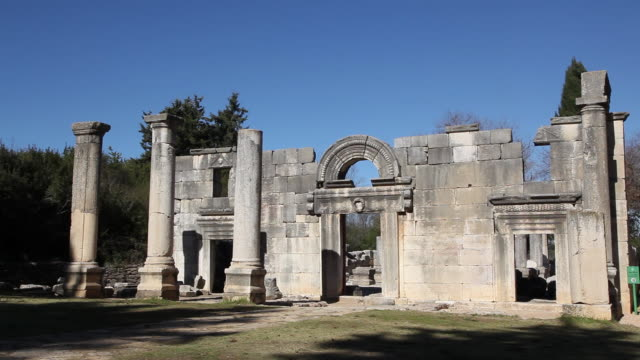 Bar'am, ancient synagogue in the norther Galilee, Israel