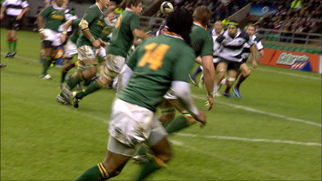 Barbarians' players nearly stop Botha Barbarians v Springboks 4th December 2010 Available in HD