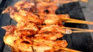 Barbecue grilled chicken on grill stove