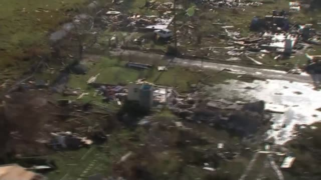 Barbuda residents accuse government of land grab following Hurricane Irma T08111734 8112017 Barbuda AIR VIEWS / AERIALS houses destroyed by Hurricane...