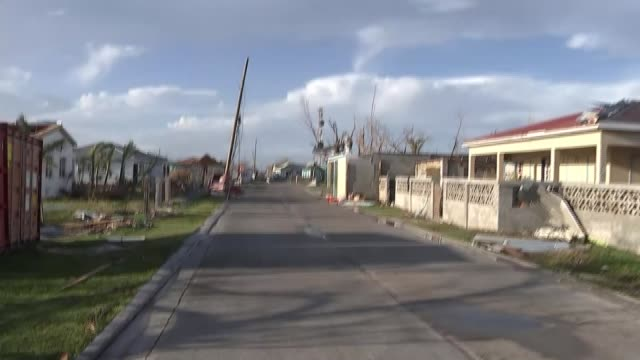 Barbuda residents accuse government of land grab following Hurricane Irma T08111734 8112017 AIR VIEWS / AERIALS town of Codrington with houses...