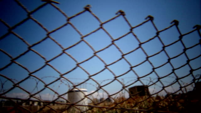 barbwire and fenced camp