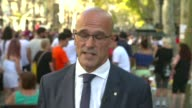 search for suspected van driver contiues ENGLAND London GIR INT Raul Romeva 2 WAY interview from Barcelona SOT