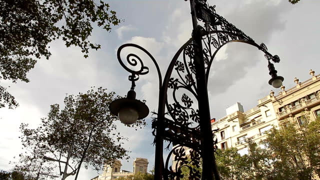 Barcelona catalonia lamp art nouveau