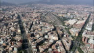 Barcelona In Wide Shots  - Aerial View - Catalonia, Barcelona, Spain