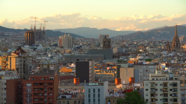 Barcelona Skyline zonsondergang