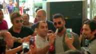 Barcelona's new transfer Arda Turan leaves Turkey before he get on the plane to the Spain to sign his contract with Barcelona on July 09 2015 at...
