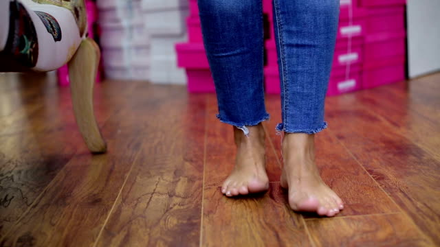 barefoot and jeans