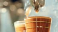 Barista making espresso coffee Preparation