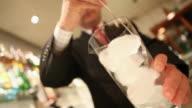 MS Barman preparing a drink dirty gin tonica / Sao Paulo, Brazil
